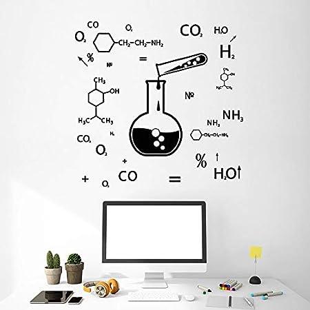 yaonuli Tatuajes de Pared química fórmula Ciencia Clase Laboratorio decoración Vinilo Adhesivo utensilio Mural creativo68X68cm