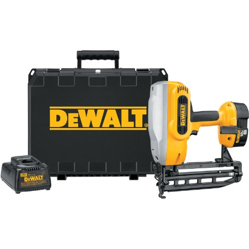Dewalt 18v Finish Nailer (DEWALT DC616K XRP 18-Volt Cordless 1-1/4-Inch - 2-1/2-Inch 16 Gauge Straight Finish Nailer Kit)