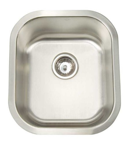 Artisan AR 1618 D8-D Premium Collection 16-Gauge 16-Inch Undermount Single Basin Stainless Steel Bar Sink by Artisan by Artisan