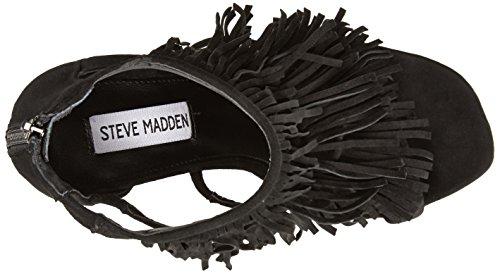 de Fringly negra Madden sandalias mujer gamuza Steve de TgqtFSH