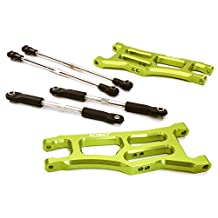 Integy RC Model Hop-ups C27101GREEN Extended Front Suspension Arms for Traxxas 1/10 Stampede 2WD