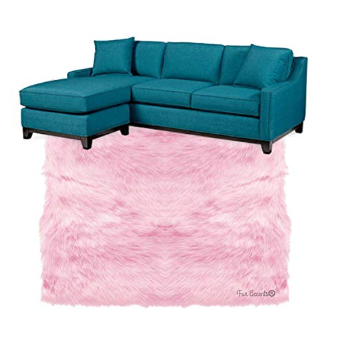 Shag Carpet - Extraordinary Faux Fur Rug - Accent - Area Rug - Throw Rug and Design - Hand Made in The USA (10'x12', Pink)
