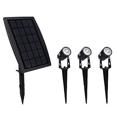 Wedany Solar Spotlights,2-in-1 Waterproof Outdoor Landscape Lighting