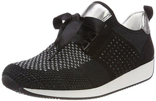 Ara Dames Textiel Sneaker Zwart
