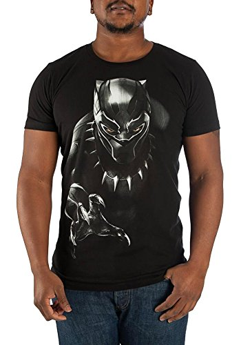 Bioworld Black Panther Character Men's Black Tee - M