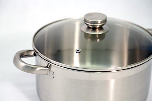 Excelsteel 7 Piece 18/10 Stainless Steel Cookware With Encapsulated Base - smallkitchenideas.us