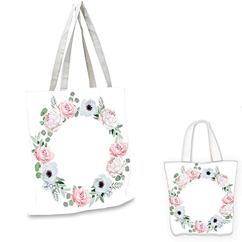 Anemone Flower canvas shoulder bag Delicate Peony