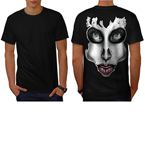 [Sugar Skull Make Up Beauty Face Men NEW M T-shirt Back | Wellcoda] (Sugar Skull Costume Tumblr)