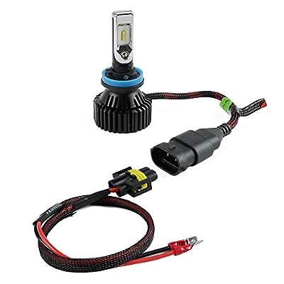 Transporter-Space - 2 PCS LED Headlight H11 To H11B Plug Extension Cable Wiring Harness For Hyundai Azera Elantra Entourage 2007 2008 2009 2010: Home Improvement