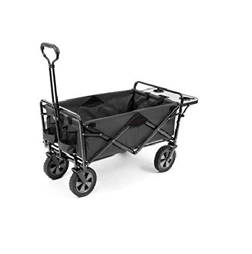 MAC Sports Folding Wagon with Folding Table, Gray