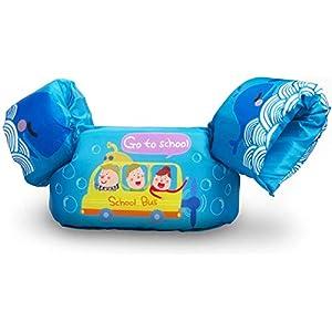 Qshare Chaleco de natación para niños, Chaleco de natación de Seguridad para niños pequeños, con Hebilla Segura 2 Correas Cinturón Ajustable Ayuda de flotabilidad para niños de 1 a 6 años, 14 a 25 kg