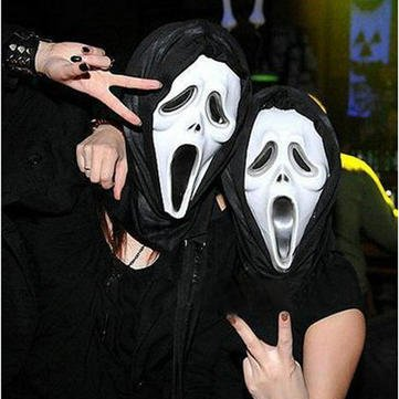 Halloween Plastic Face Masks Motorcycle Face Mask - Masquerade Party Mask Halloween Carnival Plastic Masks - Boldness - 1PCs -