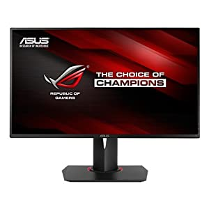 ASUS ROG SWIFT 27-inch 144Hz G-SYNC Gaming 3D Monitor [PG278Q] 1440p, 1ms Rapid Response Time, 2560 x 1440 WQHD Full HD Display with Pivot, Tilt, and Swivel, USB 3.0, Display Port