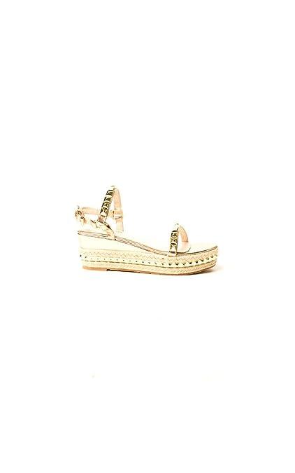 2672c3ec7 Ikrush Womens Seritta Studded Strap Wedge Sandal Rose Gold  Amazon ...