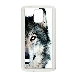 The Wolf Pattern Hard Shell Cell Phone Case for Samsung Galaxy Case S5 TSL330085