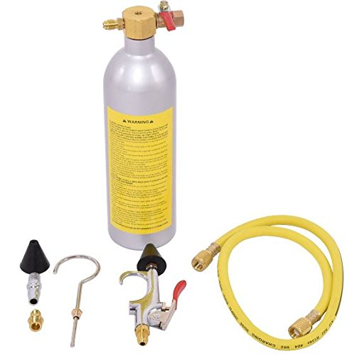 K&A Company Air Conditioner System Flush Canister Gun Kit Aluminum Reusable Canister 2 lbs