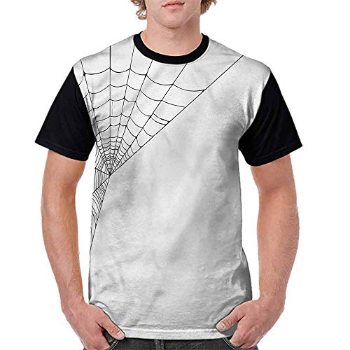 Unisex T-Shirt,Spider Web Icon Halloween Fashion Personality -