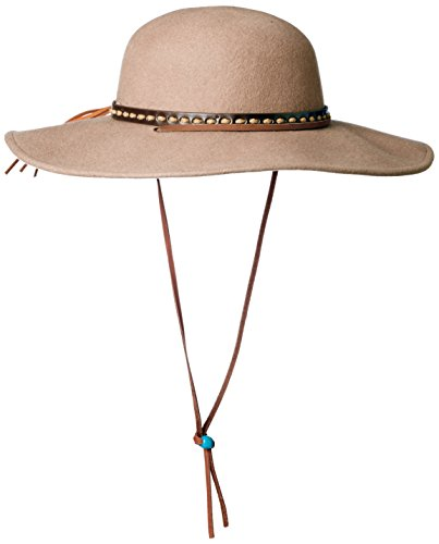 San Diego Hat Co. Men's Round Crown Wool Felt Hat with Wide Brim, Camel, Small/Medium