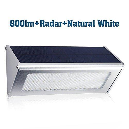 Cheap PRISMA 800 Lumen Solar Lights – YES Clean Energy 48 LED Radar Motion Sensor Light Aluminum Alloy Housing Waterproof Wireless for Outdoor Security Garden Yard Wall Light