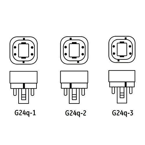 Ushio 3000059 4 Pin G24q-3 Base CF26DE//827-26 Watt CFL 2700K