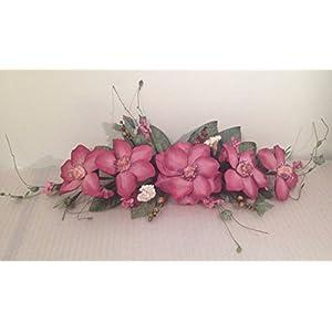 """reech852014 24"""" Silk Magnolia Swag Artificial Flower Home Wedding Centerpiece Decor (Mauve) 35"""
