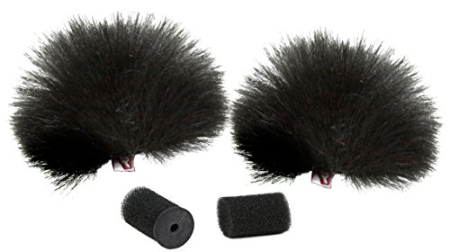 Rycote 065501 Lavalier Windjammer for Lavalier Mic Foams and Overcovers, Pair, Black