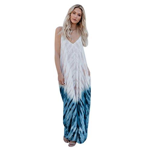 Ansenesna Femme Confortable Imprim Robe Soie De Lait  Gradient Robe De Fronde Robe Sans Manches Blanc
