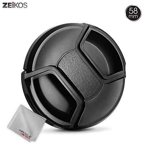 Zeikos ZE-LC58 58mm Plastic Snap On Lens Cap Black ()