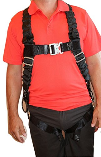 Action Harness (Ultra Pillow-Flex Harness, Quick Release, 3 D-Rings & Padded Leg Straps)