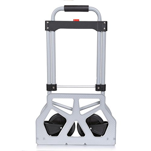 Dtemple 220lbs Capacity Heavy Duty Hand Truck/Dolly for Industrial Travel Shopping by Dtemple