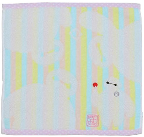 UCHINO Disney bay Max towel handkerchief 25 ~ 25cm bay Max dot stripe pink 4106V229 P