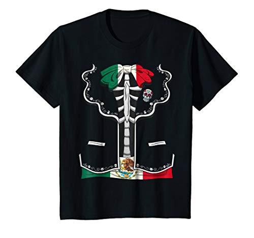 Kids Day Of The Dead Halloween Costume Dia de los Muertos T-Shirt 4 -