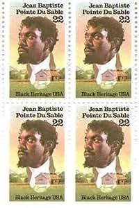 jean baptiste pointe du sable set of 4 x 22 cent us postage stamps scot 2249 toys. Black Bedroom Furniture Sets. Home Design Ideas
