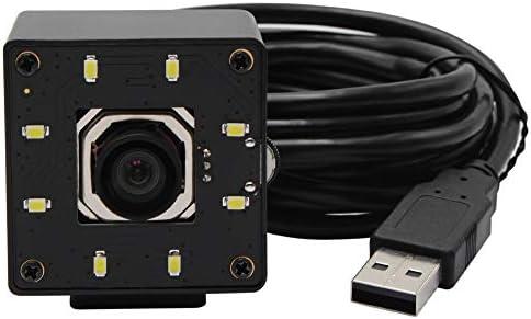 マイク内蔵ウェブカメラ USB Webcam 4K 3840x2160 Autofocus Day and Night歪みなしCMOS IMX415 HD USBカメラ、白色LED付き