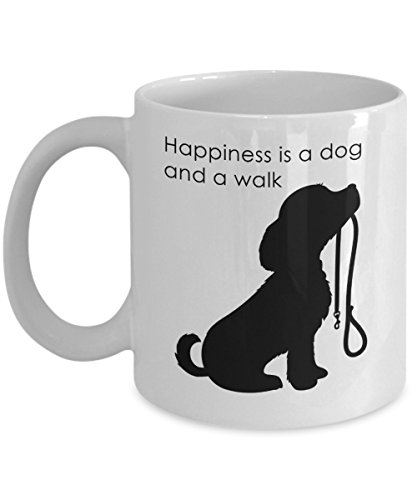 Custom Lift Halter (Love Walking The Dog. Coffee Cup For Dog Lovers Unique Humorous. Fun and a Great Gift or Present)
