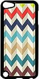 Waved Chevron Pattern- Case for the Apple Ipod 5th Generation-Hard Black Plastic