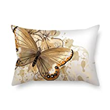 Beautifulseason Pillow Cases Of Butterfly 18 X 26 Inches / 45 By 65 Cm Best Fit For Study Room Bench Gril Friend Car Seat Gf Bench Twice Sides