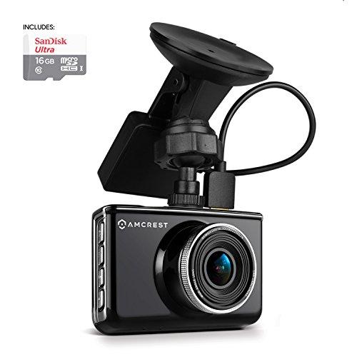 Amcrest Full-HD 1080p Dash Camera with GPS Bracket, Black