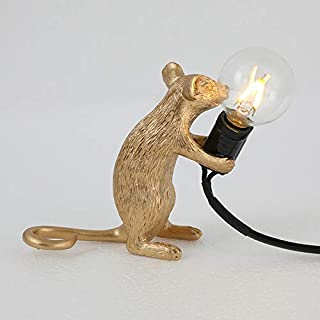 Tenrry Table Lamp Mouse Shape Resin Desk Light Bedside Lamp Light Home Room Decor