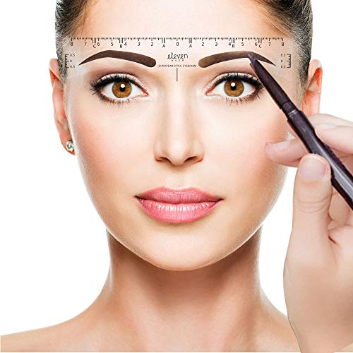 ELEVEN EVER Eyebrow Ruler Sticker, 50Pcs Eyebrow Shapes Disposable Eyebrows  Ruler Stickers Adhesive Eyebrow Microblading Ruler Guide Makeup Tool