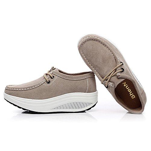 Ponerse Para Ante Ligero Mujer Caminar Jamron En Zapatos Forma 8ONPkZnXw0