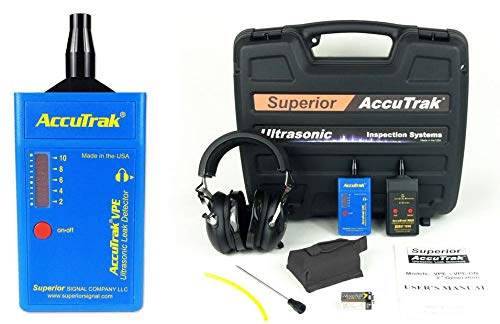 Superior AccuTrak VPE PRO-PLUS Ultrasonic Leak Detector Pro-Plus Kit, Includes VPE Leak Detector, Headset, Battery, Large Carry Case, Touch Probe, Waveguide, Sound Generator, Noise Blocking Headphones