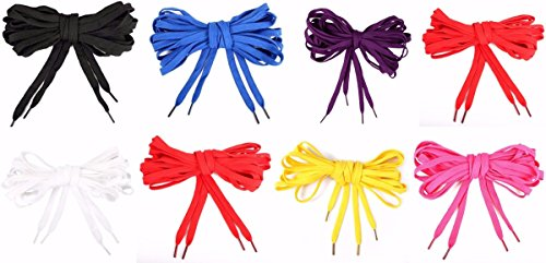 Shoes laces Multi color,Extra Flat, Wide, Long 130 or 95 inch String, Punk, High Top, Knee, Skate Canvas Sneaker Shoes Laces