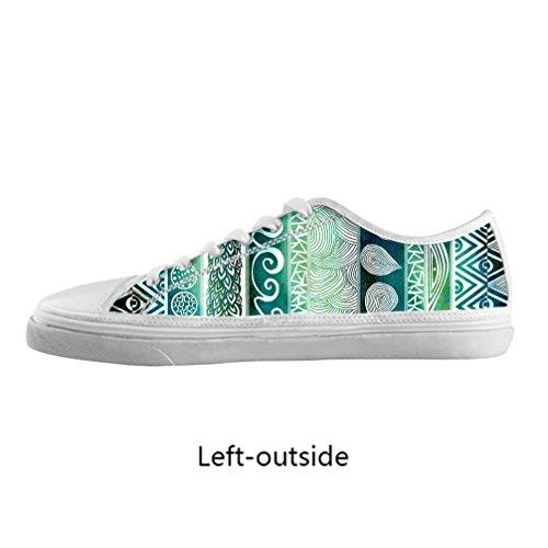 JIUDUIDODO Bella modello piuttosto bassa-top Originals Scarpe tela di alta moda degli uomini moda su misura di qualit¨¤ delle scarpe da tennis, US10/EUR43