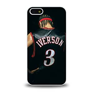 NBA Great Player Allen Iverson nicknamed A.I. The Answer Cool Design 15 Matt Feel Hard Plastic iPhone 5 Case Protective Skin Cover