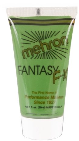 Mehron Fantasy FX Face Painting Makeup 1 oz - Green (Green Face Makeup)