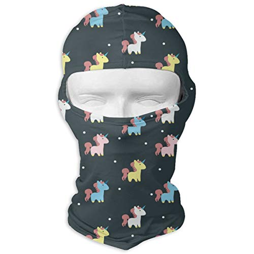 Gomop Ski Cap Colourful Unicorn Full Face Mask Hunting Cycling Masked Hoods Hat