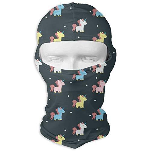 - Gomop Ski Cap Colourful Unicorn Full Face Mask Hunting Cycling Masked Hoods Hat