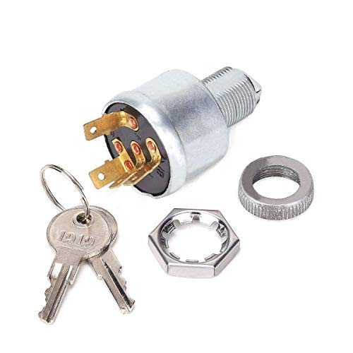 10L0L EZGO Key Switch for EZGO 33639G01, Ignition Switch for Golf Cart with Lights (Standard Key) ()