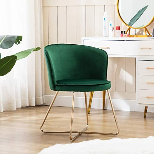 Duhome Accent Chair Vanity Chair Home OfficeMid-Century Modern Upholstered Leisure Club Dining Chairs Velvet Cushion